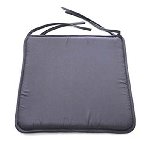 HAIMEN Padded Seat Cushions, Comfortable Chair Cushions with Ties Seat Pads, Chair Seat Pads for Patio Sofa Office Tatami Decoration 40cm x 40cm Square Removable Cover for Indoor Living Room