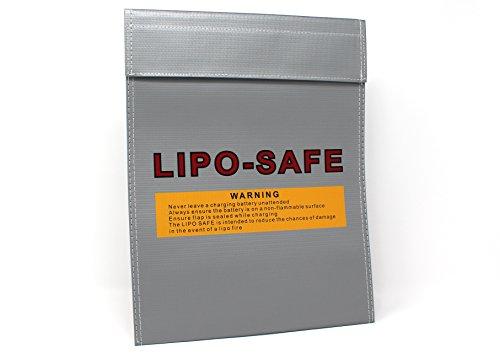 molinoRC Lipo Tasche 18x22 cm | feuerfest Akku | Sicherheitstasche Feuer Sicherheit | Safe Brandschutztasche Safebag