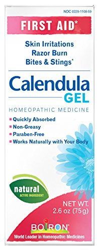 Boiron Calendula Gel, 2.6-Ounce Tubes (Pack of 3), Homeopathic Medicine for Skin Irritation and Burns