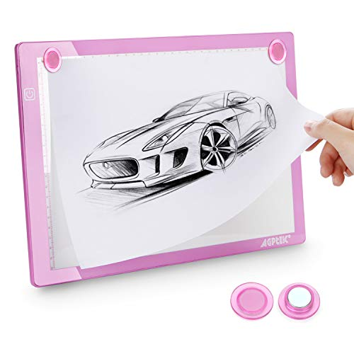 AGPTEK A4 LED Leuchttisch Light Pad Leuchtkasten LED Licht Tracer Artcraft Tracing Pad Light Box Ultra Slim USB-Kabel Helligkeit verstellba Tatoo Pad Aniamtion zum Zeichnen