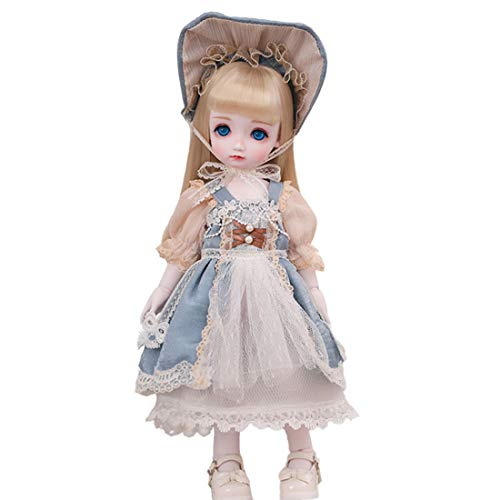 Flye 1/6 BJD Doll ähnelt Blythe, Ball Jointed Doll Handbemalte Make-up-Puppen mit Kleidung - Cabbage