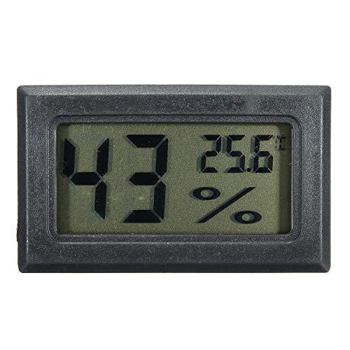 MJJEsports Digitale auto-hygrometer, thermometer, luchtbevochtiger, Zwart, 1