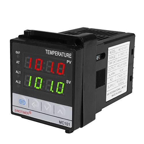 Greatangle SINOTIMER Short Shell Eingangsthermostat Temperaturregler SSR Relais Ausgang Wärme Kühl Alarm PID Temperaturregler Schwarz