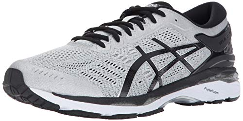 ASICS Men's Gel-Kayano 24 Running Shoe, Silver/Black/Mid Grey, 11 Medium US