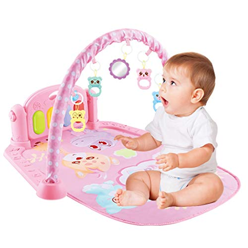 Baby Play Mat Activity Gym, Baby Crawling Game Pad with Piano Music Pedal and Fitness Rack with Hanging Toys, Best Gift for Infants and Toddlers (UK 3-5 Day,Multicolour)