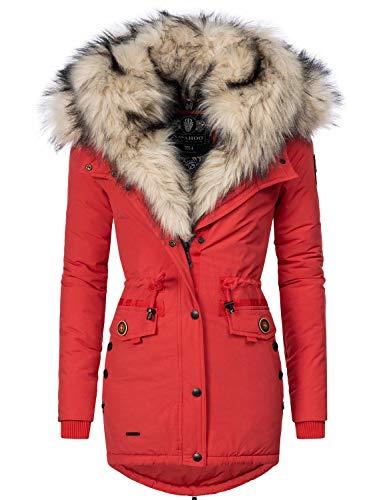 Navahoo Sweety Cappotto Invernale Parka Invernale Foderata da Donna 2in1 Rosso XS