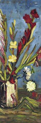 1art1 Vincent Van Gogh - Vase Mit Gladiolen, 1886, 1-Teilig Fototapete Poster-Tapete 250 x 79 cm