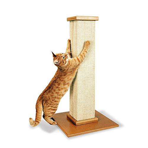 HO-TBO Katzenspiel-Baumturm, Vertikale Katze Kratz Katze Klettergerüst Sisal Katze Kratzbaum Turm Exklusiver Raum (Color : Wood, Size : One Size)