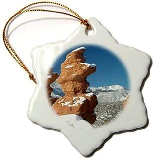 Emily Christmas Decoration Bob Kane Photography Garden of The Gods Siamese Twins and Pikes Peak Ceramic Snowflake Ornament Xmas Gifts Ideas