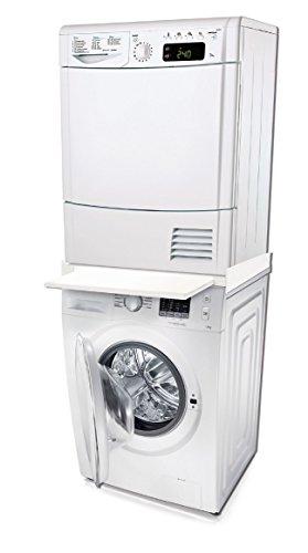 Eurosell Waschmaschinen Zubehör - Auffangwanne / Podest / Schublade / Einbau / Zwischenbaurahmen (Waschmaschinen Zwischenbaurahmen mit Tisch)