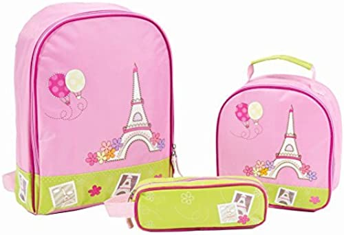 Aquarella Kids Back to School Paris Set (3-Piece), Rosa by Aquarella Kids