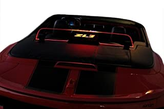 2011+ Chevrolet Camaro 5th Generation Convertible Wind Deflector - Control air flow, cut down backdraft, wind noise - GM Licensed - Easy Install, Secure Mounting - Laser-Etched Design - Red Lighting