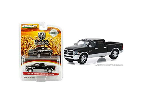 1:64 Hobby Exclusive - 2018 RAM 2500 Big Horn Harvest Edition (Brilliant Black/Bright Silver) 30047 by Greenlight