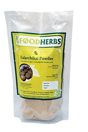 Foodherbs Gajga/Fever nut/Kalarchikai/Caesalpinia Bonducella Powder (200 Gm/0.44 Lbs) 100% Pure De-shelled Nut Powder