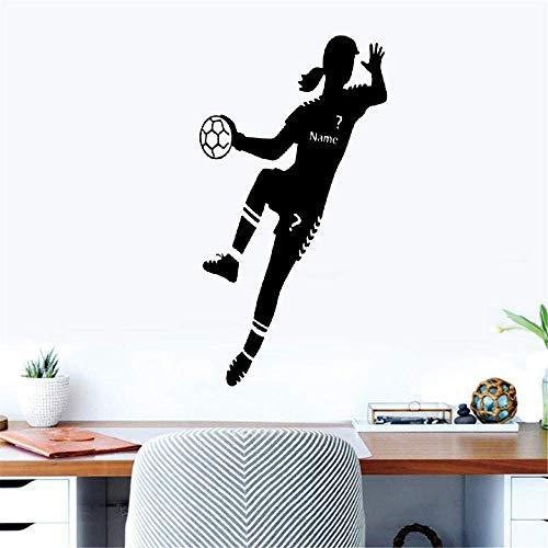 Wandtattoo Wohnzimmer Wandtattoo Schlafzimmer Bild Handball Sport Name des Handballspielers für Mädchenschlafzimmer