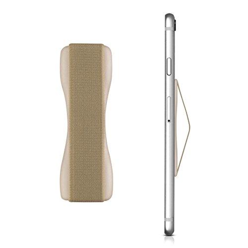 kwmobile Smartphone Fingerhalter Griff Halter - Selbstklebende Handy Fingerhalterung - Finger Halter kompatibel mit iPhone Samsung Sony Handys Gold