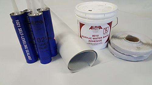 Class A Customs Superflex RV Rubber Roof Kit 8.5' X 20' Complete Kit