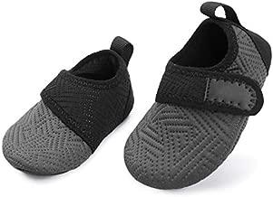 L-RUN Baby Soft Sole Shoes First Walker Barefoot Skin Grey 12-18 Months=EU19-20