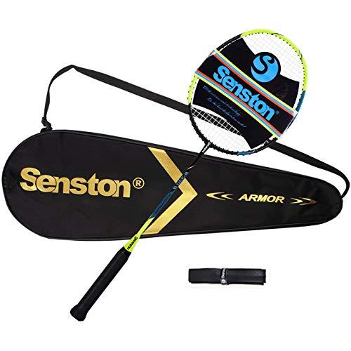 Senston Raquette de Badminton en Graphite de Haute qualité Badminton Raquette - Comprend 1 Sac de Badminton / 1...
