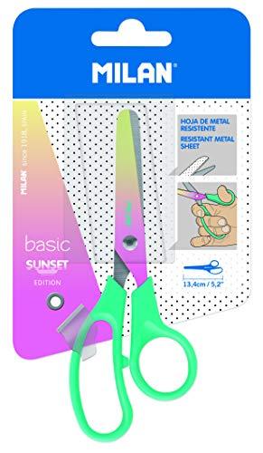 MILAN Blíster tijeras Basic edición Sunset, mango turquesa