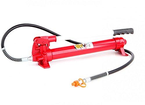 Hydraulik Handpumpe mit Pumpstange 10 Tonnen für Richtsatz Spreizer Druckzylinder