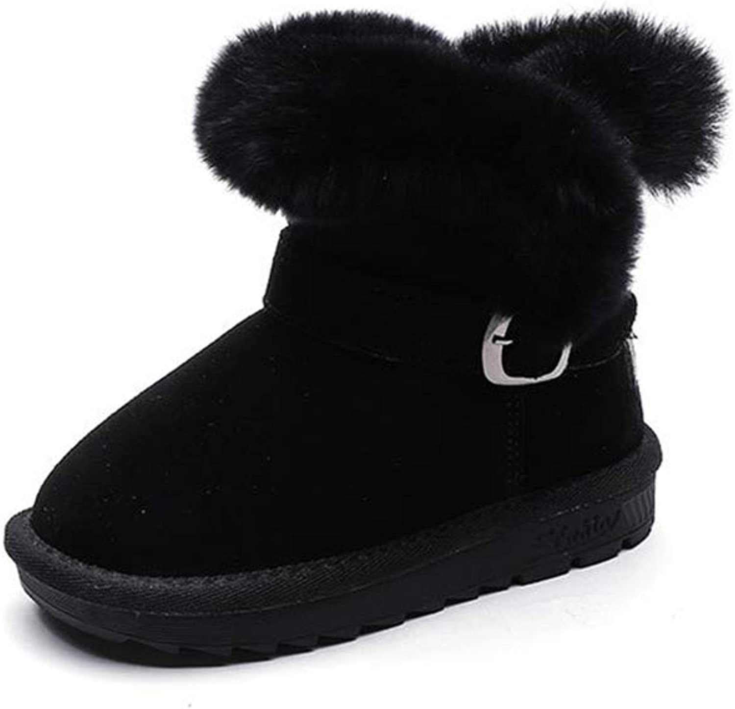 Unyielding1 Boys Girls Toddler Little Kid Big Kid Insulated Fur Winter Waterproof Snow Boots