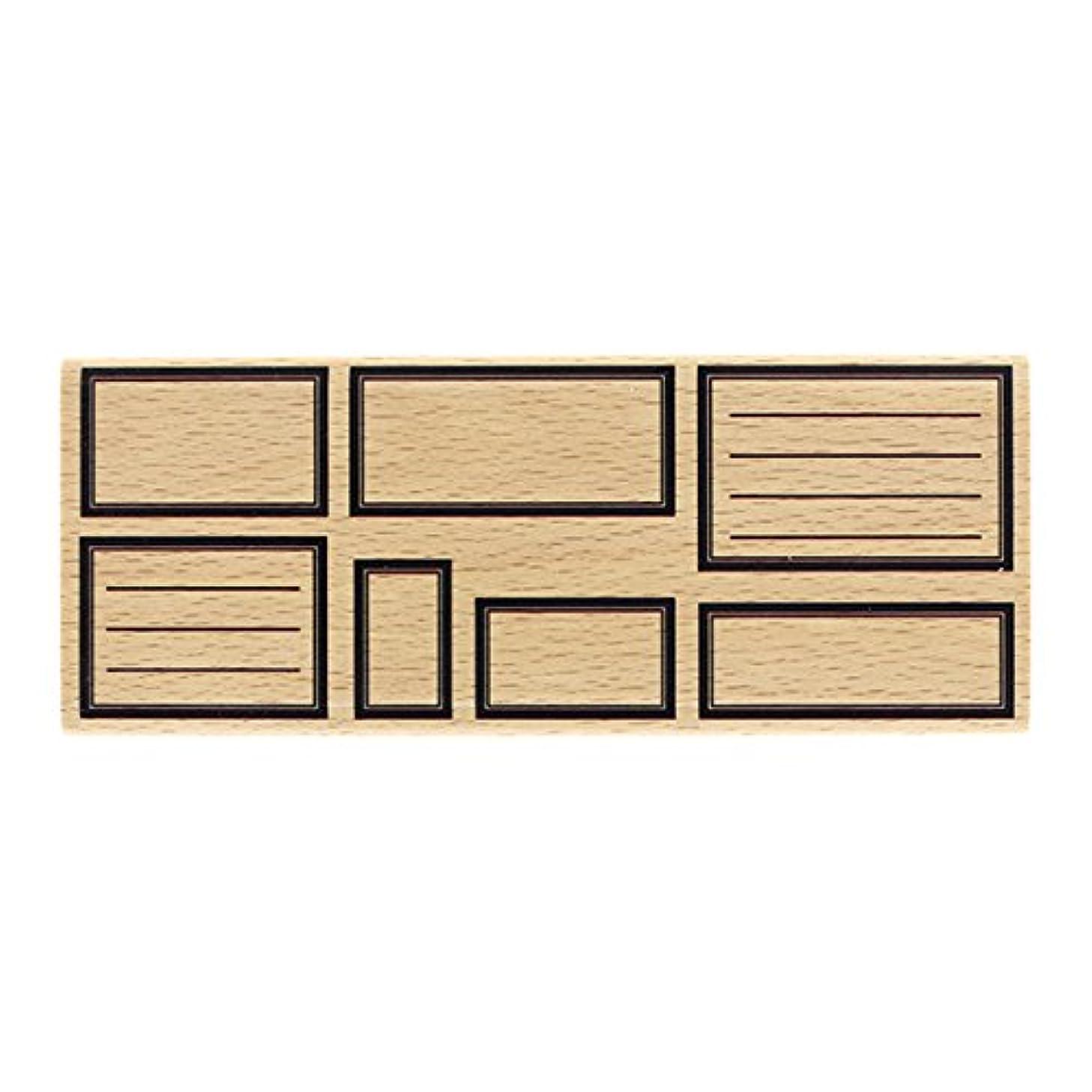 Florilèges Design fg117078?Seven Rectangle Tags Stamp Wood 6?x 15?x 2.5?cm