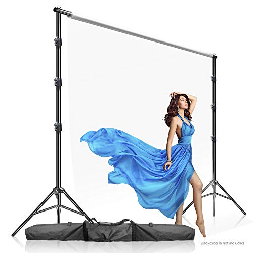 Julius Studio Photo Video Studio 10 x 9.4 feet (W x H) Length Adjustable Muslin Background Backdrop Support System, Backdrop Stand with Carry Bag, JSAG505