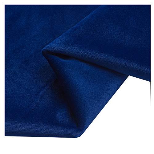 NAKAN 155x100cm Tela de Terciopelo por Metro Tela para Manualidades No Elástica para Coser Manualidades, Cojines, Disfraz(Color:Royal blue14)