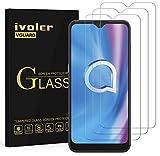 ivoler 3 Unidades Protector de Pantalla para Alcatel 3L 2020 / Alcatel 1S 2020 / Alcatel 1V 2020, Cristal Vidrio Templado Premium para Alcatel 3L 2020 / Alcatel 1S 2020 / Alcatel 1V 2020