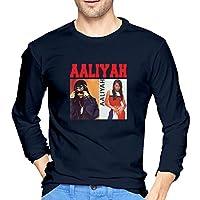 Aaliyah アリーヤ Tシャツ メンズ ロングスリーブ トップス クルーネック 上質なコットン 長袖 トレーナー スポーツ トレーニングウェア 春服 夏服 秋服 冬服 レディース ドライな肌ざわり 乾きやすい