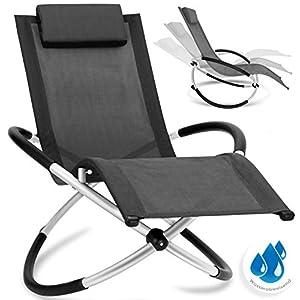 KESSER® Relaxliege Liegestuhl | Gartenliege Sonnenliege | Gartenstuhl | Klappstuhl faltbar | Schwungliege…