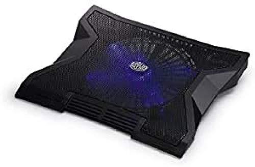 Cooler Master NotePal XL Notebook Kuhler Leise 230mm Blaue LED Lufter USB Hub Kompatibel mit bis zu 17 Zoll Laptops R9 NBC NXLK GP