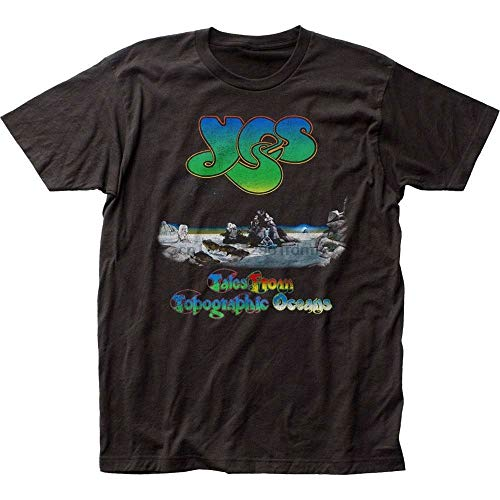 Summer New Authentic Yes Tales from Topographic Oceans Album Record Cover T-Shirt top Printed 3D T Shirt Cool Top Fashion