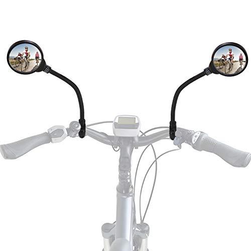 Rupse Rétroviseur de Vélo Miroir de Vélo Miroir Convexe 360° Réglable et Rotatif Retroviseur de Guidon Grand Angle de Vue Arrière pour Moto électrique Vélo de Route Vélo de Montagne Bicyclette