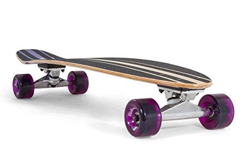 Mindless Voodoo Complete Longboard Raider II Purple - Kicktail professional longboard 34 x 8 inch