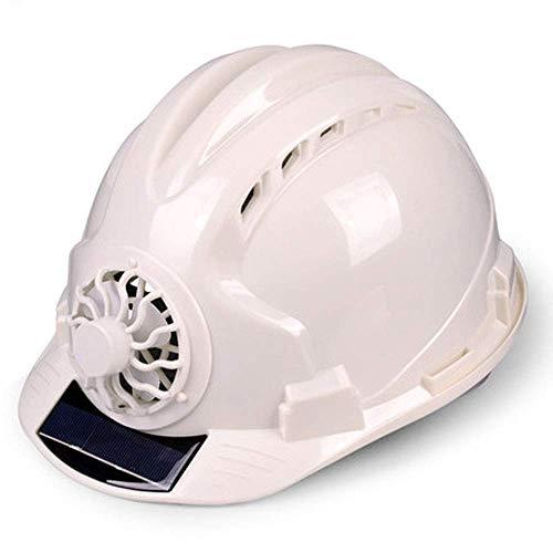 Sooiy Casco de Seguridad, Emplazamiento de la Obra ventilada, Protección Solar emplazamiento de la Obra Casco de Deportes, Multicolor selección Cascos de Seguridad,Blanco ✅