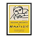 Dessins Récents Matisse Art Gallery Exhibition Poster 11'x14' UNFRAMED Henri Matisse Artwork Reproduction Modern Home Decor for Bedroom Bathroom or Living Room Picture Gallery (OPTION 3)