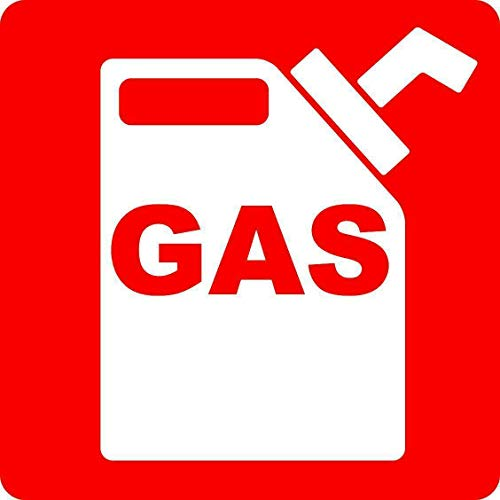 Gas Truck Door Signs Fuel Safety IC Car Sign Kitchen, Courtyard, Garage Decorations Metal Signs 12X12 Inch