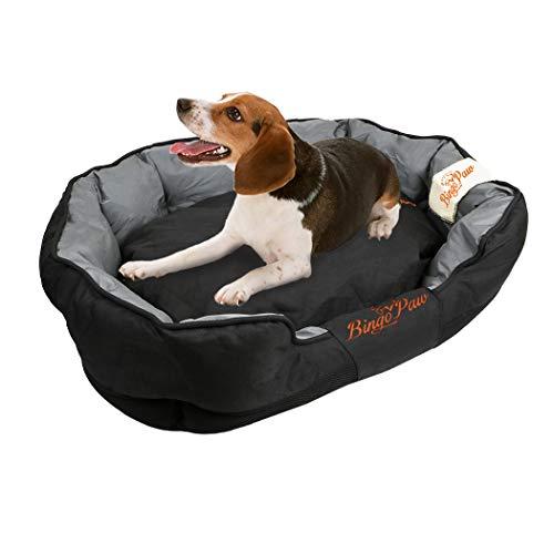 WISFORBEST Waterdicht hondenbed, afneembaar huisdier kussen wasbaar Puppy gewatteerde Kennel met Scratch Prevention doek voor middelgrote en grote hond