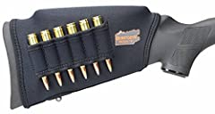 Gain proper eye alignment or gun fit Improves shooting comfort by reducing felt recoil (5) various sizes of foam cheek pads for increased versatility Built-in swivel stud access for sling attachment Easy to install, no velcro or plastic buckles