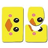 Alysays Tapete de baño, Aseo 3pcs Alfombras y esteras de Inodoro Mats Antideslizantes Set de alfombras de baño Decorativo, DL1114 (Color : Dl1112)