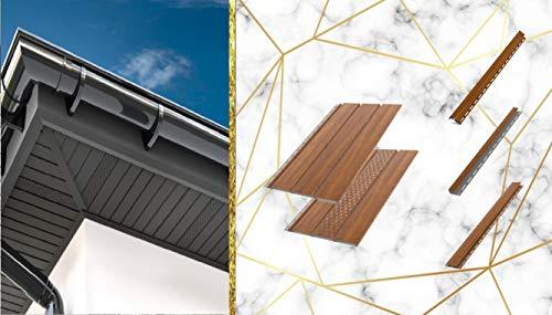 Bryza Kunststoffpaneele Goldene Buche | Verkleidung | Aussen & Innen | Unterdach | Standartpaneele 200x30,5x1,5cm