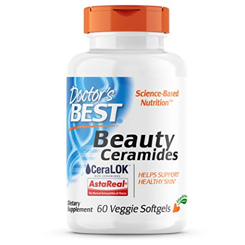 Doctor's Best Beauty Ceramides with CeraLOK, Supports Healthy Skin, Reduces Skin Dryness & Scaling