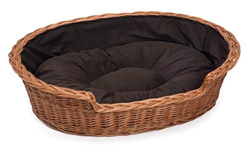 Prestige Wicker Dog Bed Basket, Large, Dark