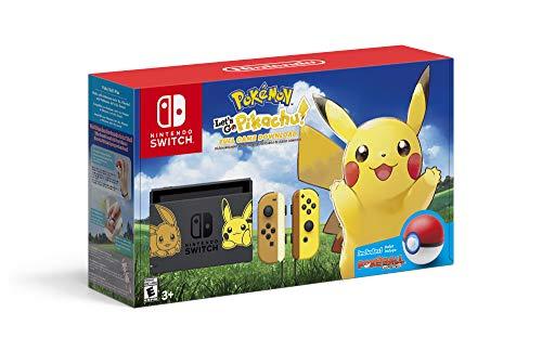 Nintendo Switch Console Bundle- Pikachu & Eevee Edition with Pokemon: Let's Go, Pikachu! + Poke Ball Plus