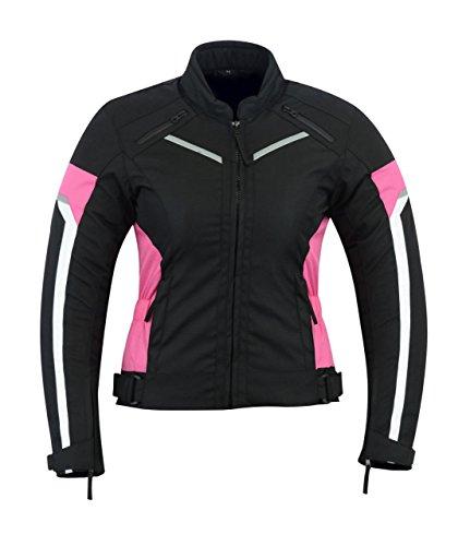 nero giacca tessile WCJ-101 Taglia 52 // L Protectwear giacca da motociclista