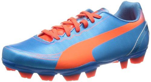 Puma Unisex Evospeed 5.2 FG Jr Fußballschuhe, Blau (Sharks Blue-Fluro Peach-Fluro Yellow 04), 38 EU