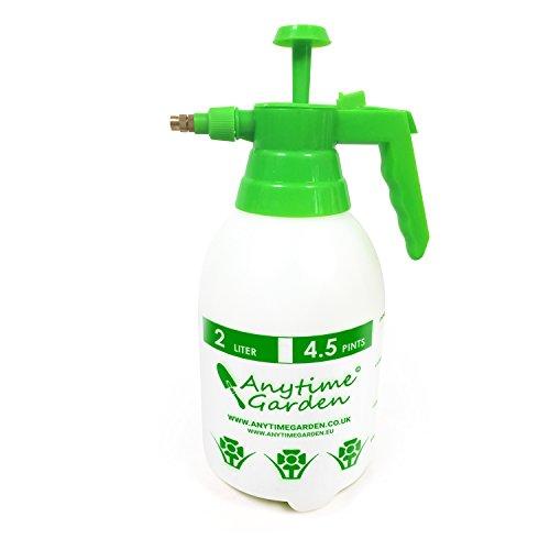Anytime Garden DRUCKSPRÜHER Universal Sprüher - Hand Gartenspritze, auch für Chemikalien und Pestizide geeignet – Spritzen Sie Unkräuter, Dünger usw. Messingdüse (2L)