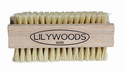 Lilywoods extra fuerte cepillo de uñas de madera con doble cara de cerdas fuertes Cactus (Solo)